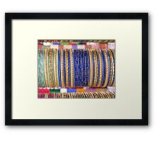 Indian Bangles Blue Framed Print