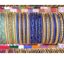 Indian Bangles Blue Photographic Print