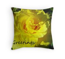 Summer Yellow Throw Pillow