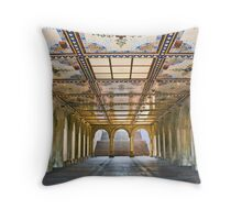 Bethesda Terrace Arcade Throw Pillow