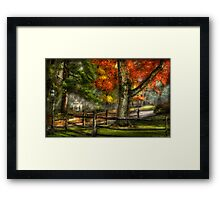 On a country Road Framed Print