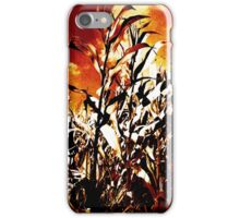 Fire in the corn field iPhone Case/Skin