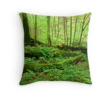 The Fallen Covered in Moss Throw Pillow