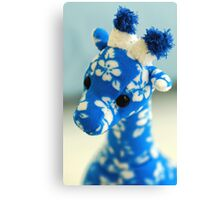 Blue Giraffe Canvas Print