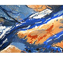 Tangerine Waves Photographic Print