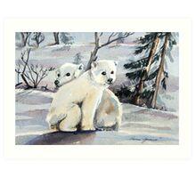 Polar Cubs Art Print