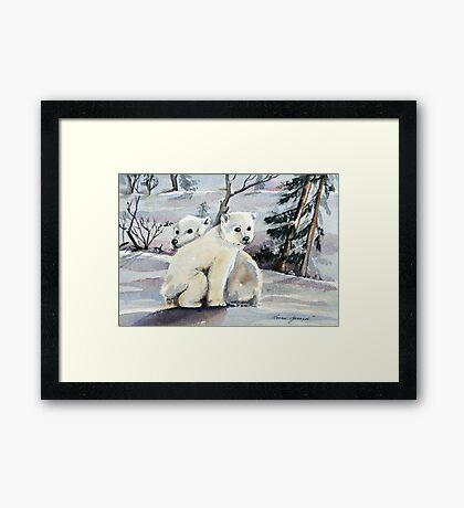 Polar Cubs Framed Print
