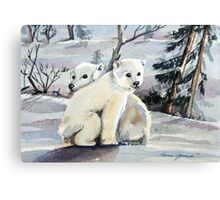 Polar Cubs Canvas Print