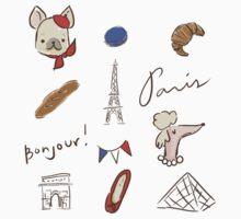 Bonjour Paris Baby Tee