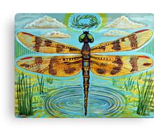 Golden Dragonfly Canvas Print