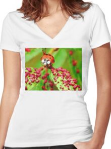 Do I Clash With These Spots? Women's Fitted V-Neck T-Shirt