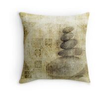 Stone Meditation Throw Pillow