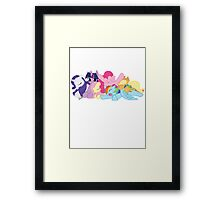 Sleepy Ponies Framed Print