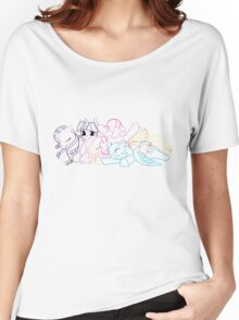 Sleepy Ponies Outlined Women's Relaxed Fit T-Shirt