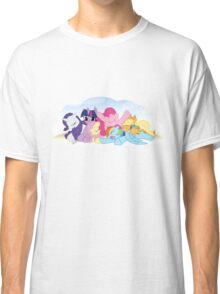 Sleepy Ponies with Background Classic T-Shirt