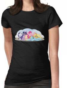 Sleepy Ponies with Background Womens Fitted T-Shirt