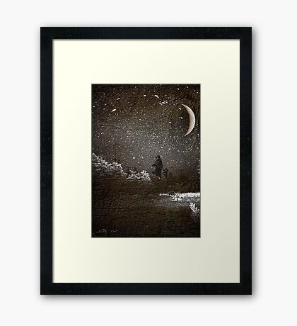 Mother & Son Through Storm Framed Print