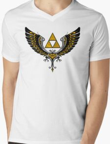 Tri Winged Mens V-Neck T-Shirt