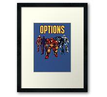 Iron Man Armor Framed Print