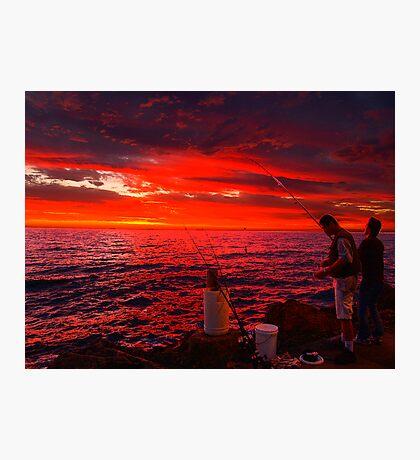 Sun Gone, Gone Fishing Photographic Print
