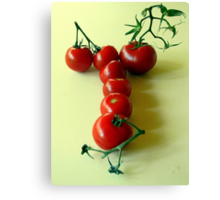 T is for TOMATOES! Canvas Print
