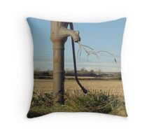 Old Water Pump Throw Pillow