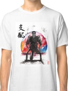 Illusive Man from Mass Effect with calligraphy Classic T-Shirt