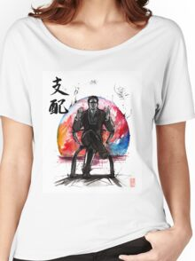 Illusive Man from Mass Effect with calligraphy Women's Relaxed Fit T-Shirt