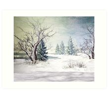 A Snow Scene Art Print