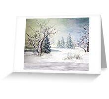 A Snow Scene Greeting Card