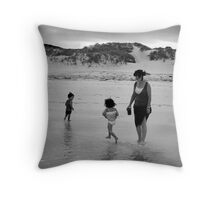 Frolicking Fun Family Throw Pillow