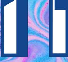 Indiana University Water Marble Logo Sticker