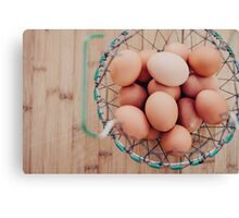 Eggs in a Basket Canvas Print