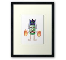 Tiki Man Framed Print