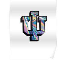 Indiana University Shiny Rainbow Logo Poster