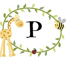 Nursery Letters P by mezzilicious
