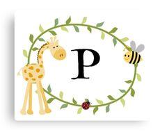Nursery Letters P Canvas Print