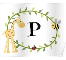 Nursery Letters P Poster