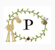 Nursery Letters P One Piece - Short Sleeve