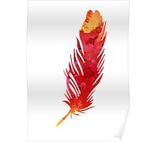 Red abstract feather large poster Poster