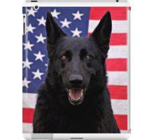 Black German Shepherd - U.S.A. iPad Case/Skin