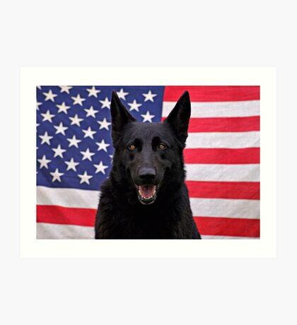 Black German Shepherd - U.S.A. Art Print