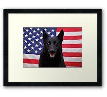 Black German Shepherd - U.S.A. Framed Print
