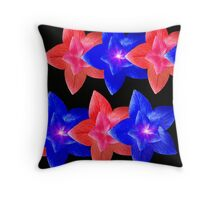 Wraparound In Red And Blue Throw Pillow