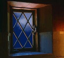 Blue Night through Casement by RC deWinter
