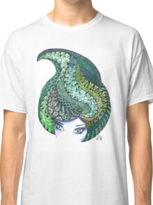Zentangle and watercolor head Classic T-Shirt