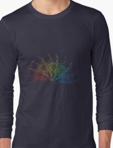 Rainbow Rabbit Skull Long Sleeve T-Shirt