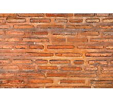 ansient bricking wall  Photographic Print