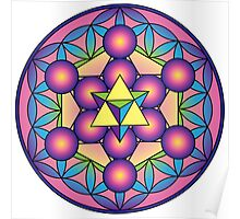 Merkaba with Metatron's Cube  Poster
