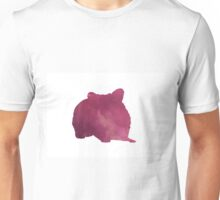 Hamster silhouette watercolor art print painting Unisex T-Shirt